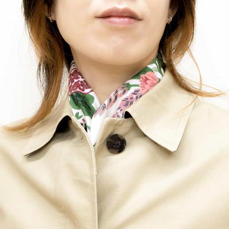 Sarahbel the timeless 抗菌ふろしき【中巾】Garden(ガーデン)<ホワイト>