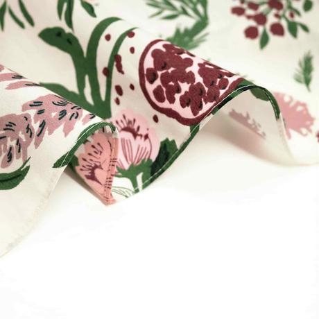 Sarahbel the timeless 抗菌ふろしき【三巾】Garden(ガーデン)<ホワイト>