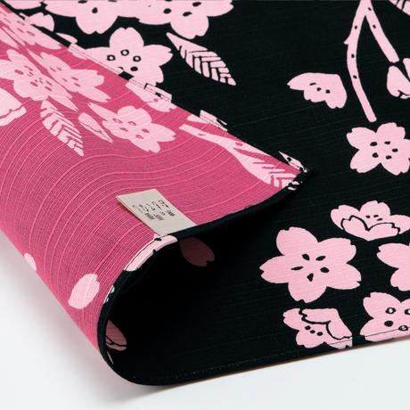 京の両面おもてなし ふろしき【中巾】桜<消灰色ーけしずみいろ>