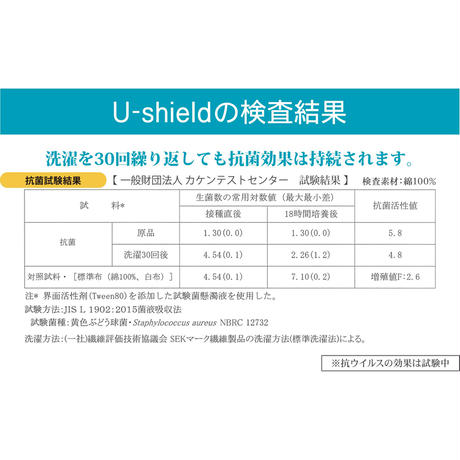 U-shield 抗菌ふろしき【三巾】グリーン