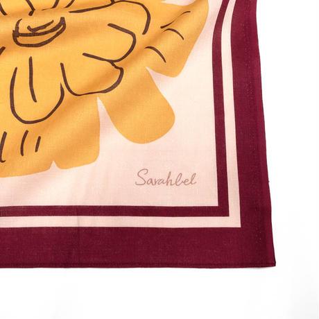 Sarahbel the timeless 撥水ふろしき【三巾】Nuts(ナッツ)<レッド>