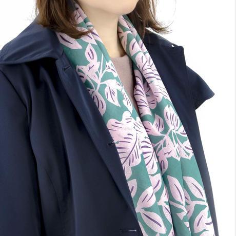 Sarahbel the timeless 撥水ふろしき【三巾】Leaves(リーブズ)<ターコイズ>