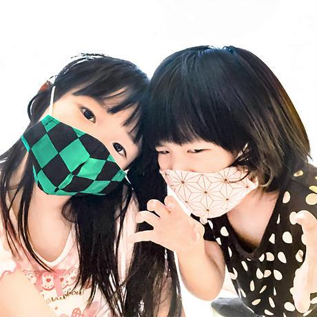人気アニメ風商品 マスク【小】麻の葉柄<ピンク>