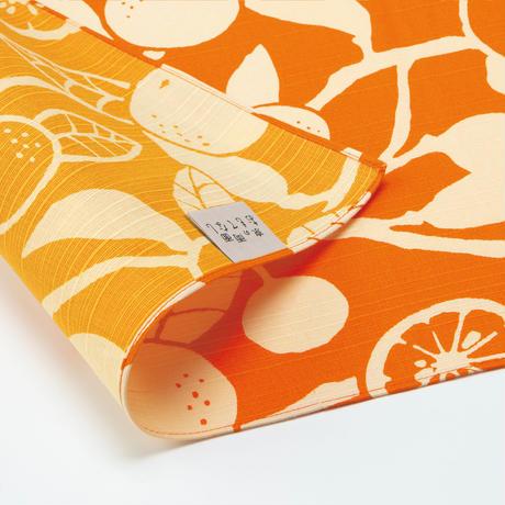 京の両面おもてなし ふろしき【中巾】橙<橙色ーだいだいいろ>