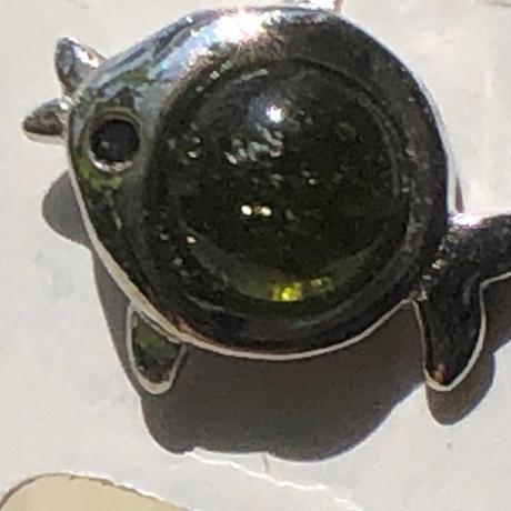SV925 グリーントルマリンピアス