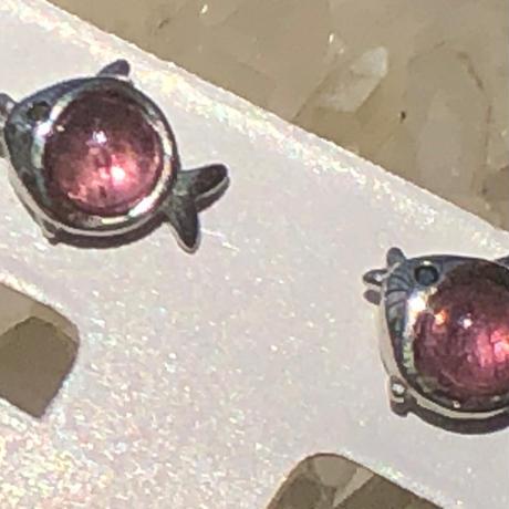 SV925 ピンクトルマリンピアス