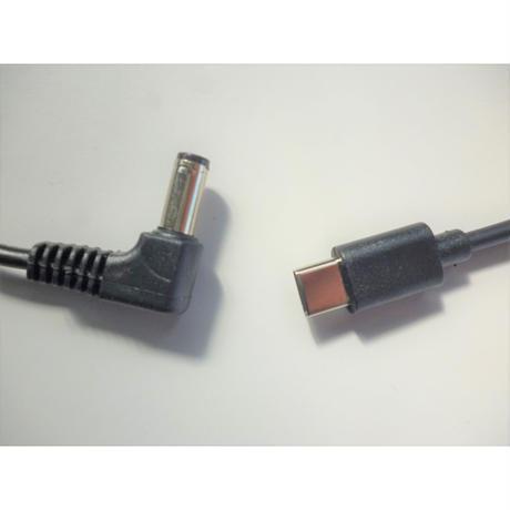オートパワーオフ(無負荷時自動停止) キャンセラー 機能つき PDトリガーケーブル USB Type C プラグ / DC 5525(5521) プラグ