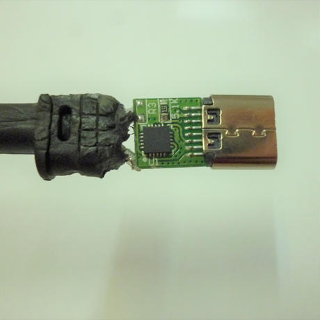 [PDE-4817] 100W 対応 eMarker内蔵 USB PD トリガーケーブル DC18V-20V 電源プラグ 充電用ショートケーブル ノートパソコン用 (4.8mm×1.7mm)