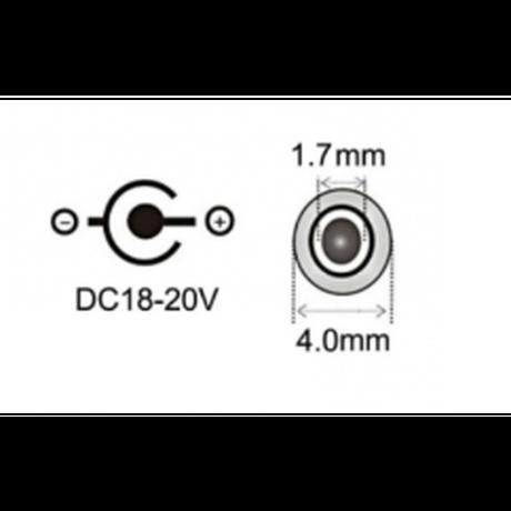 100W/5A対応 eMarker内蔵 USB PD トリガーケーブル DC 18V-20V 電源プラグ 充電用ケーブル 1.8m ASUS Lenovo HP 用 (4.0mm/1.7mm)