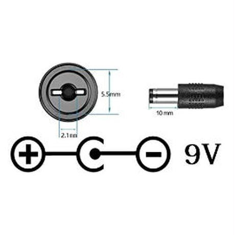 [PDC-09VM] エフェクター 電源 急速充電専用 USB Type-C PDトリガーケーブル センターマイナス ケーブル長 30cm (DC9V)