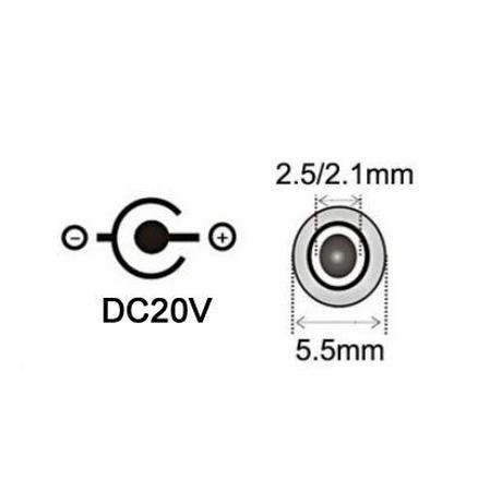 [PDC-20V] USB電源ケーブル Type-C PDトリガーケーブル DC プラグ 外径5.5mm/内径2.1mm(2.5mm) (20V)