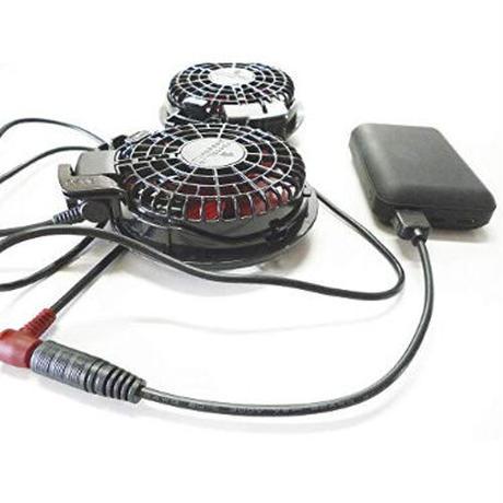 [QC12.0-38135S]USB TypeAから12Vを取り出す ファン付き作業服 電熱ベスト電源ケーブル(日新被服などに対応)
