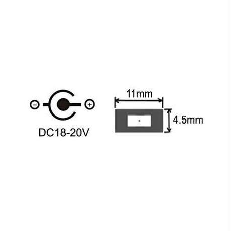 [PDC-1145] USB Type-C PD トリガーケーブル DC 20V 電源プラグ 充電ケーブル Lenovo レノボノートパソコン用 (11.0mm/4.5mm)