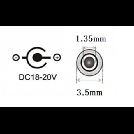 [PDE-35135]  100W 対応 eMarker内蔵 USB PD トリガーケーブル DC18V-20V 電源プラグ 充電用ショートケーブル ノートパソコン用(3.5mm×1.35mm)