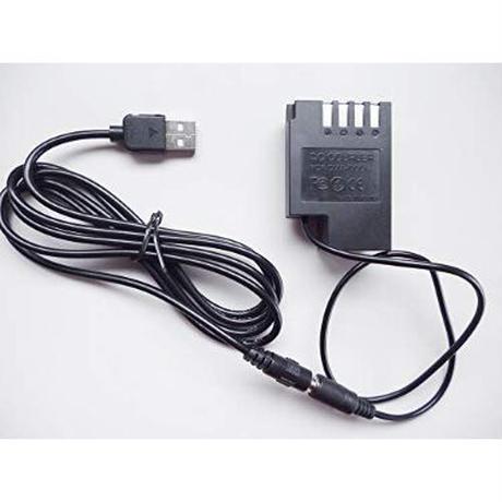 [QC-DCC12]DC カプラー + USB電源ケーブル Type-A QCトリガーケーブル バッテリー Panasonic製対応