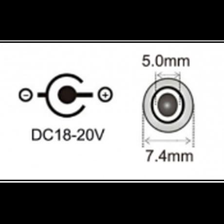 100W/5A対応 eMarker内蔵 USB PD トリガーケーブル DC 18V-20V 電源プラグ 充電用ケーブル 1.8m HP 用 (7.4mm/5.0mm)