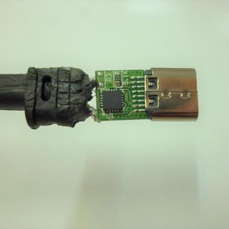 [PDE-1145] 100W 対応 eMarker内蔵 USB PD トリガーケーブル DC18V-20V 電源プラグ 充電用ショートケーブル ノートパソコン用 (□11.0mm×4.5mm)