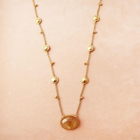 Shinti plate necklace  { Necklace }  rutilquartz