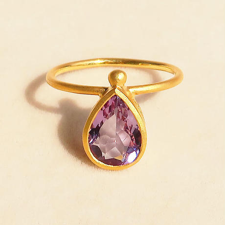 Cure Drop  { Ring }  amethyst. K18