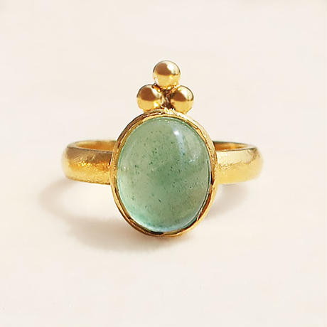 Cosmic law  { Ring }  aquamarine
