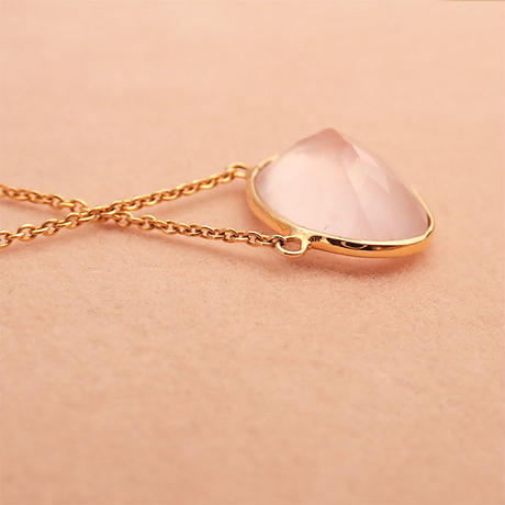 L.E.O.  { Necklace } rose quartz. tanzanite. K10/K22GP
