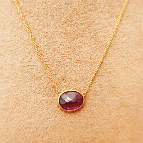 Rhodorite garnet necklace  { Necklace }  K18