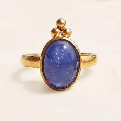 Cosmic law  { Ring }  tanzanite