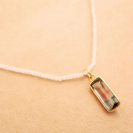 Simple Stone  { Necklace }  moonstone