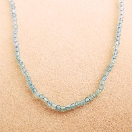 Simple Stone  { Necklace }  blue topaz