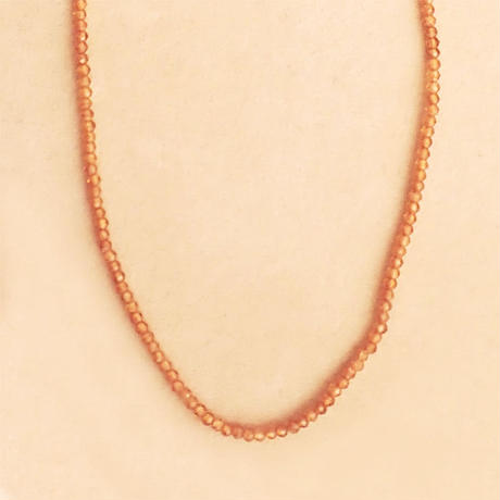 Simple Stone  { Necklace }  hessonite garnet