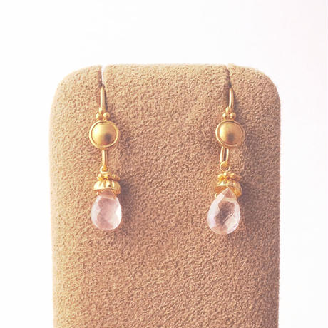 Petit Bell { Earrings } rosequatz