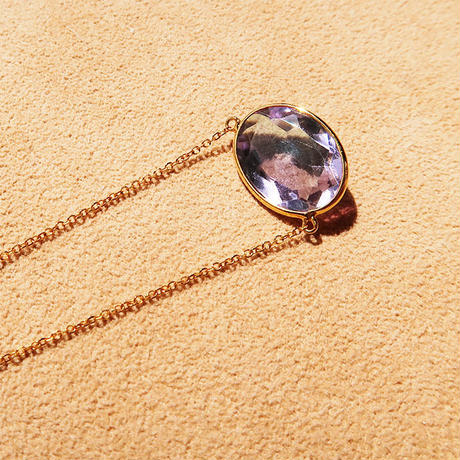 Lucky each other  { Necklace }  amethyst. K18