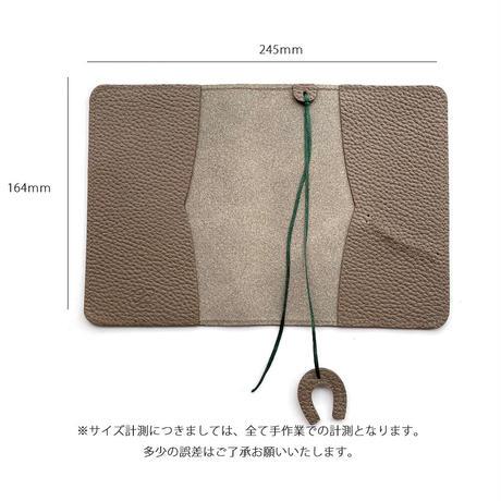 ブックカバー シュリンク型押しレザー【Gratia】G011