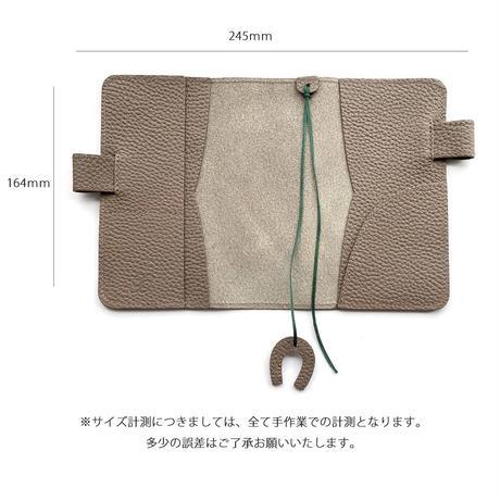 A6手帳カバー バタフライストッパー シュリンク型押しレザー【Gratia】G016