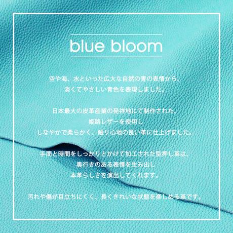 ミニキーケース シュリンク型押しレザー【blue bloom】bb004