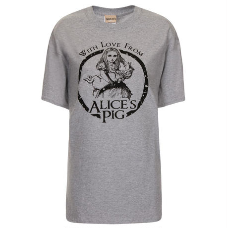 [SALE] Alice's Pig アリスズピッグ ロゴTシャツ BOYFRIEND TEE IN GREY