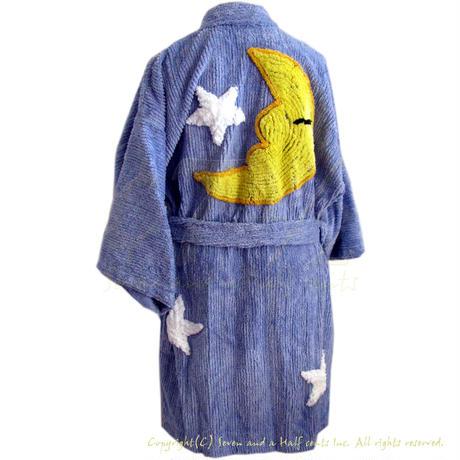 (キャニオングループ) Canyon Group プラッシュ・シェニール キモノローブ Moon & Stars Bedroom Blue