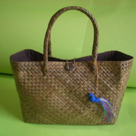 バリュウリーフのトートバッグS    Bariw Leaves Tote Bag/S