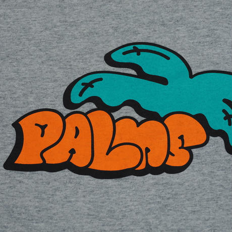 Designed by PALMGRAFFI ファットロゴ  5.6オンス  ロングスリーブシャツ