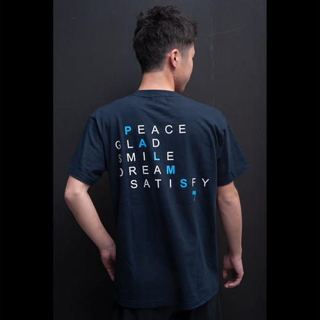ポジティブワードバックプリント 5.6オンスコットンTシャツ