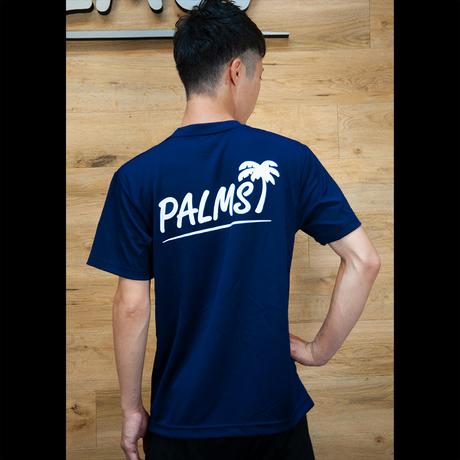 パームスバックロゴ 4.4ozドライTシャツ( ディープブルー)