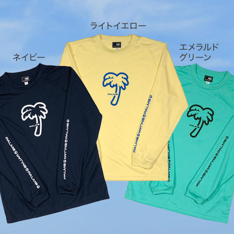 パームツリー4.4オンスドライロングスリーブTシャツ