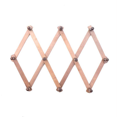 Accordion Wood Peg Rack - B