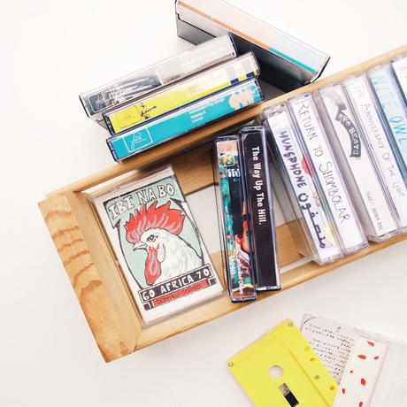 Wooden Cassette Tape Storage - 16