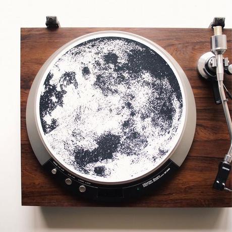"""Turntable Slipmats """"The Moon"""""""