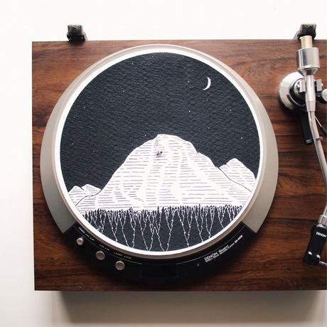 "Turntable Slipmats ""Mountains"""