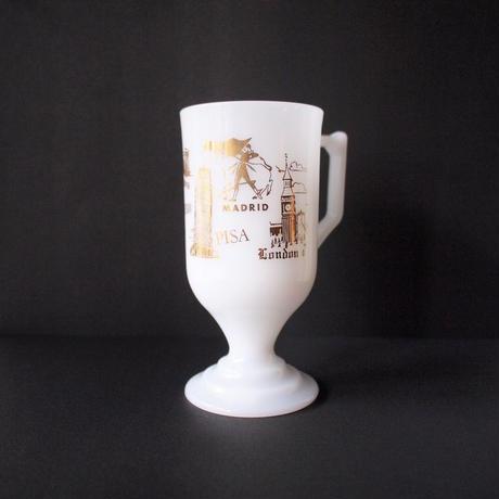 Milk Glass Footed Mug