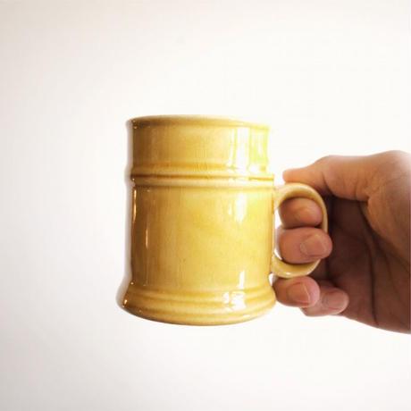 60s Yellow Ceramic Mug