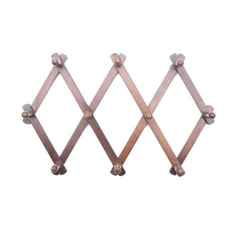 Accordion Wood Peg Rack - A
