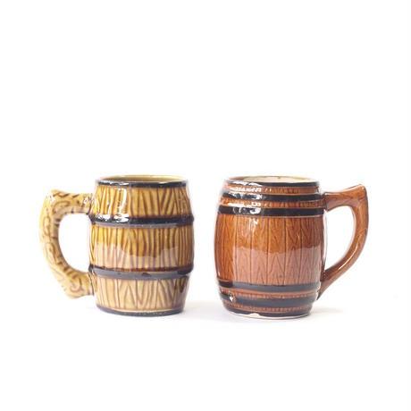 Ceramic Barrel Mug Set